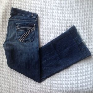 7 For All Mankind Dojo trouser light stitching 30